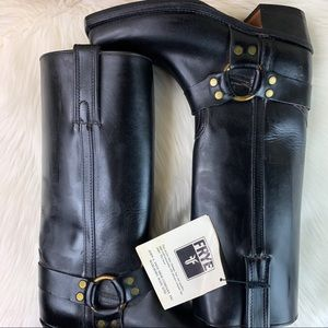 Vintage Frye Harness Leather Boots